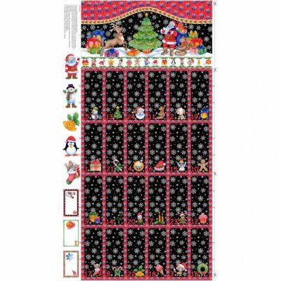 Nutex - Advent Calendar Panel Black - 60cm - With Option For A Kit