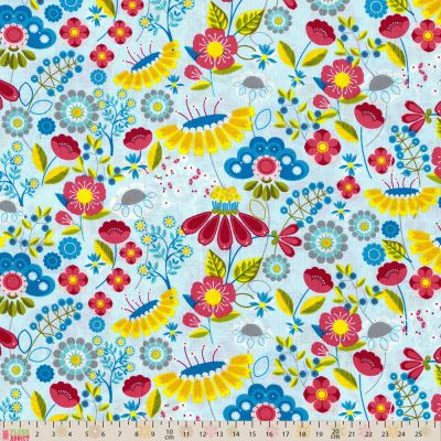 Nutex - Meadow - Floral Blue