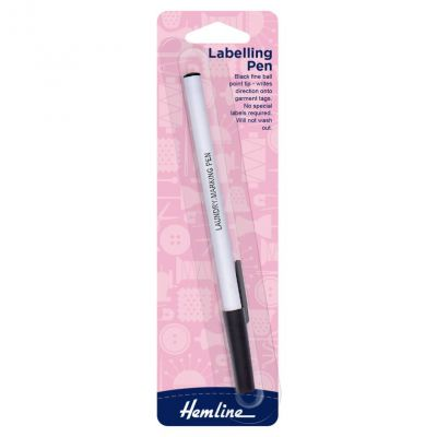 Hemline Permanent Labelling Pen: Ball Point