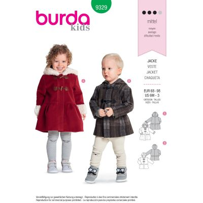 Remnant - Burda - 9329 - KIDS (68cm - 98cm) - End of Line