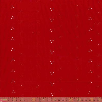 Broderie Anglaise - 3 Hole Red