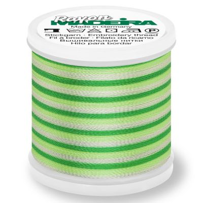 Madeira Rayon No 40 Machine Embroidery Thread 200m Reel - Ombre Colour 2031