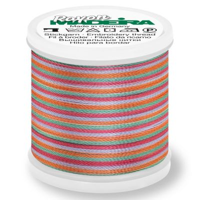 Madeira Rayon No 40 Machine Embroidery Thread 200m Reel - Multi-Colour 2141