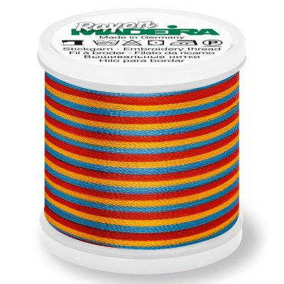 Madeira Rayon No 40 Machine Embroidery Thread 200m Reel - Multi-Colour 2142