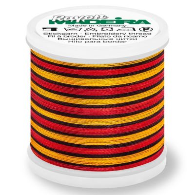 Madeira Rayon No 40 Machine Embroidery Thread 200m Reel - Multi-Colour 2145