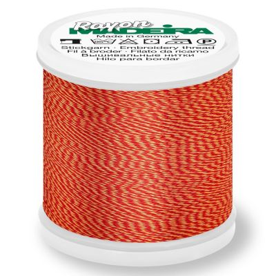 Madeira Rayon No 40 Machine Embroidery Thread 200m Reel - Melange Colour 2228