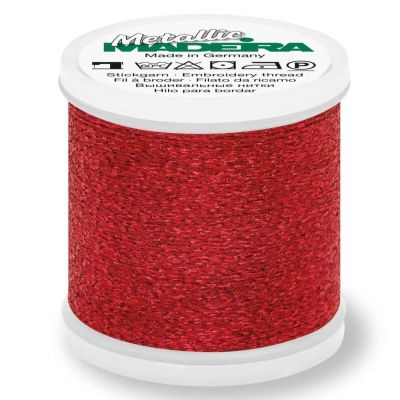 Madeira Metallic Sparkling Sewing And Embroidery Thread 200m - Colour 15 Ruby
