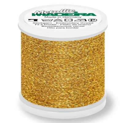 Madeira Metallic Sparkling Sewing And Embroidery Thread 200m - Colour 21 Gold Medal