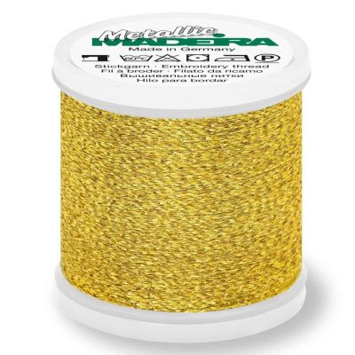Madeira Metallic Sparkling Sewing And Embroidery Thread 200m - Colour 25 Gold Nugget