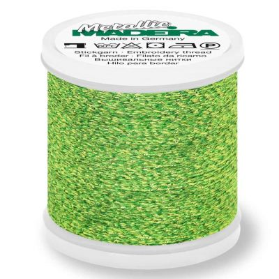 Madeira Metallic Sparkling Sewing And Embroidery Thread 200m - Colour 52 Glamour Green