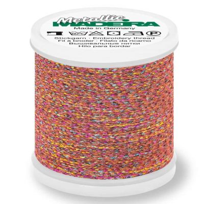 Madeira Metallic Sparkling Sewing And Embroidery Thread 200m - Colour 274 Coral Fish