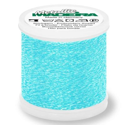 Madeira Metallic Sparkling Sewing And Embroidery Thread 200m - Colour 301 Blue Crystal