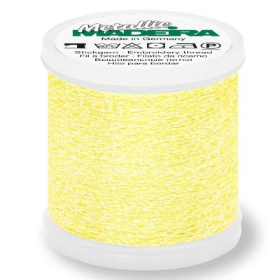 Madeira Metallic Sparkling Sewing And Embroidery Thread 200m - Colour 303 Lemon Quartz