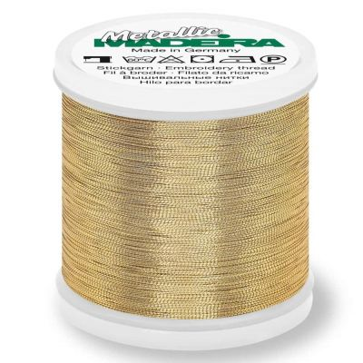 Madeira Metallic Smooth Sewing And Embroidery Thread 200m - Colour 306 White Gold