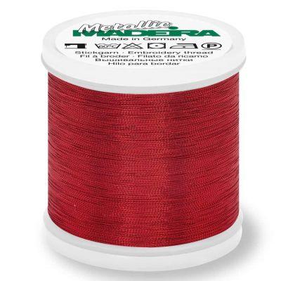 Madeira Metallic Smooth Sewing And Embroidery Thread 200m - Colour 315 Ruby