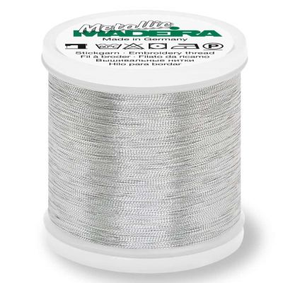Madeira Metallic Smooth Sewing And Embroidery Thread 200m - Colour 320 Silver