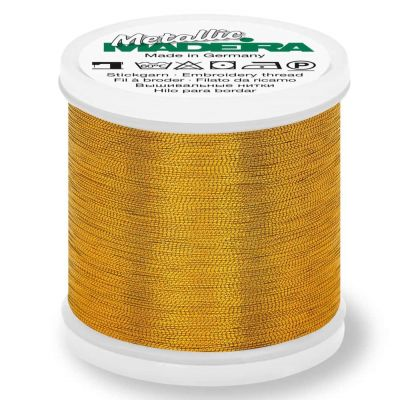 Madeira Metallic Smooth Sewing And Embroidery Thread 200m - Colour 326 Sultan Gold