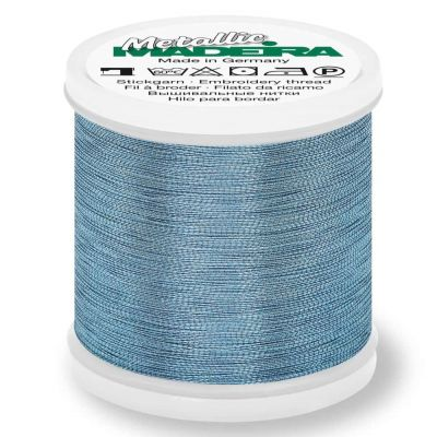 Madeira Metallic Smooth Sewing And Embroidery Thread 200m - Colour 333 Aquamarine