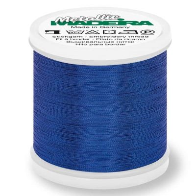Madeira Metallic Smooth Sewing And Embroidery Thread 200m - Colour 338 Sapphire