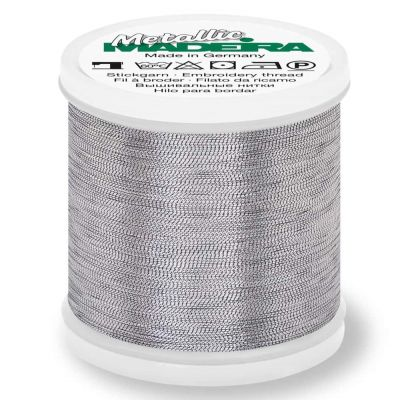 Madeira Metallic Smooth Sewing And Embroidery Thread 200m - Colour 342 Antique Silver