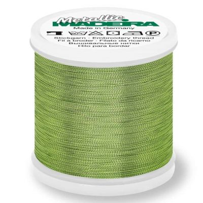 Madeira Metallic Smooth Sewing And Embroidery Thread 200m - Colour 352 Malachite