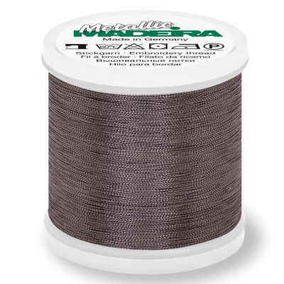 Madeira Metallic Smooth Sewing And Embroidery Thread 200m - Colour 360 Black Pearl