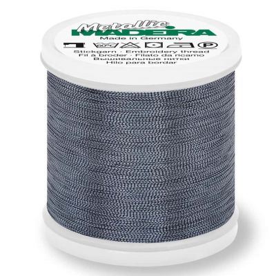 Madeira Metallic Smooth Sewing And Embroidery Thread 200m - Colour 361 Pewter