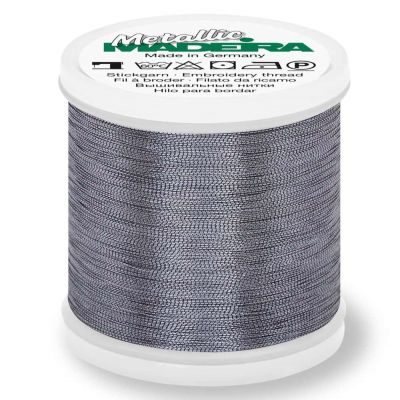 Madeira Metallic Smooth Sewing And Embroidery Thread 200m - Colour 362 Platinum