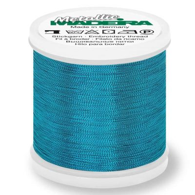 Madeira Metallic Smooth Sewing And Embroidery Thread 200m - Colour 365 Turquoise