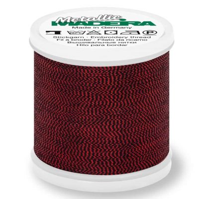 Madeira Metallic Soft Sewing And Embroidery Thread 200m - Colour 414 Fire Opal