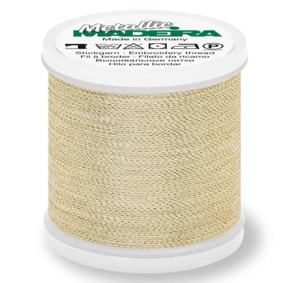 Madeira Metallic Soft Sewing And Embroidery Thread 200m - Colour 422 Gold Dust