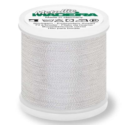 Madeira Metallic Soft Sewing And Embroidery Thread 200m - Colour 441 Silver Dust