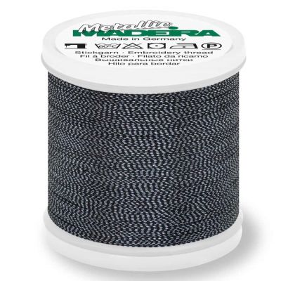 Madeira Metallic Soft Sewing And Embroidery Thread 200m - Colour 460 Black Pearl
