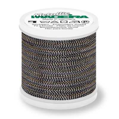 Madeira Metallic Soft Sewing And Embroidery Thread 200m - Colour 442 Antique Silver