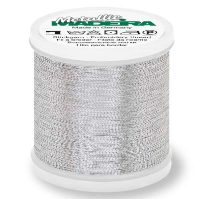 Madeira Metallic Brilliant Sewing And Embroidery Thread 200m - Aluminium Colour