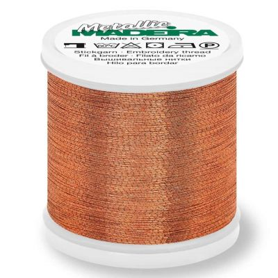 Madeira Metallic Brilliant Sewing And Embroidery Thread 200m - Copper Colour