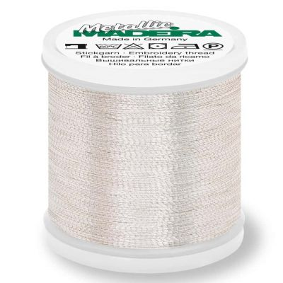 Madeira Metallic Brilliant Sewing And Embroidery Thread 200m - Silver Colour