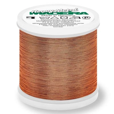 Madeira Metallic Heavy Metal Sewing And Embroidery Thread 200m - Colour 6028 Copper