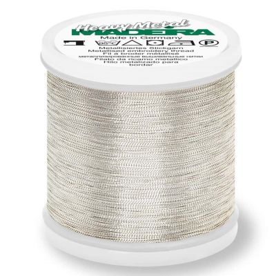 Madeira Metallic Heavy Metal Sewing And Embroidery Thread 200m - Colour 6030 Silver