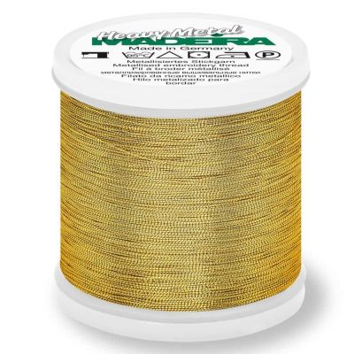 Madeira Metallic Heavy Metal Sewing And Embroidery Thread 200m - Colour 6034 Gold 34