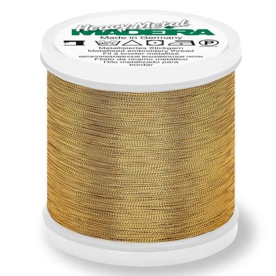 Madeira Metallic Heavy Metal Sewing And Embroidery Thread 200m - Colour 6037 Gold 37