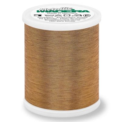Madeira Metallic Smooth Sewing And Embroidery Thread 1000m - Colour 307 Fine Gold