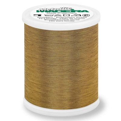 Madeira Metallic Smooth Sewing And Embroidery Thread 1000m - Colour 324 Antique Gold
