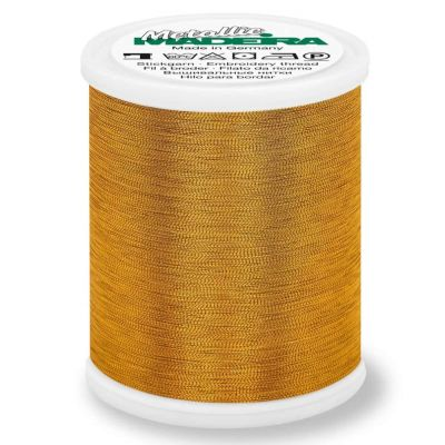 Madeira Metallic Smooth Sewing And Embroidery Thread 1000m - Colour 326 Sultan Gold