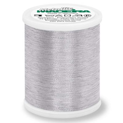 Madeira Metallic Brilliant Sewing And Embroidery Thread 1000m - Aluminium Colour