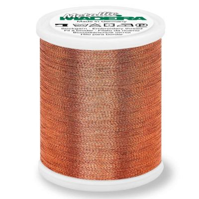 Madeira Metallic Brilliant Sewing And Embroidery Thread 1000m - Copper Colour