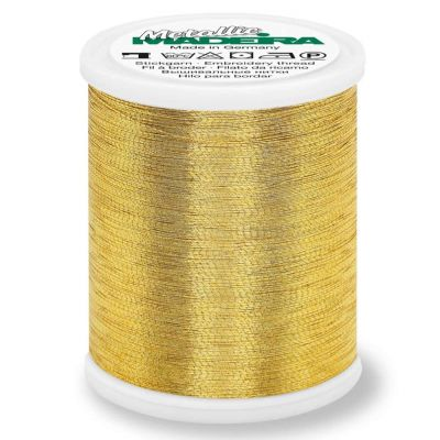 Madeira Metallic Brilliant Sewing And Embroidery Thread 1000m - Gold 4 Colour
