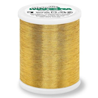 Madeira Metallic Brilliant Sewing And Embroidery Thread 1000m - Gold 7 Colour