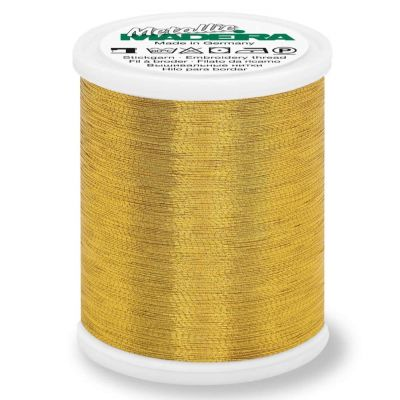 Madeira Metallic Brilliant Sewing And Embroidery Thread 1000m - Gold 8 Colour