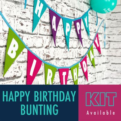 Happy Birthday Bunting Kit - Brights